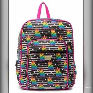 Luv Betsey Brook Printed Backpack  Black Multi NWT